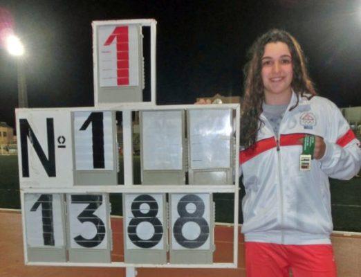Cristina Trejo Campeona de Andalucía Juvenil de Lanzamiento de Peso