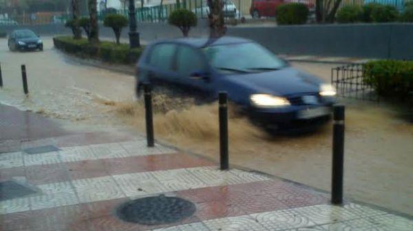 La lluvia también ha ocasionado problemas en Aguadulce