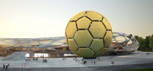 Imagen virtual del mega balón