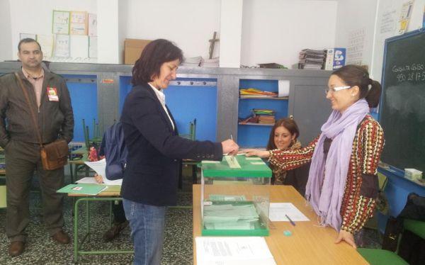 Rosalía Martín vota