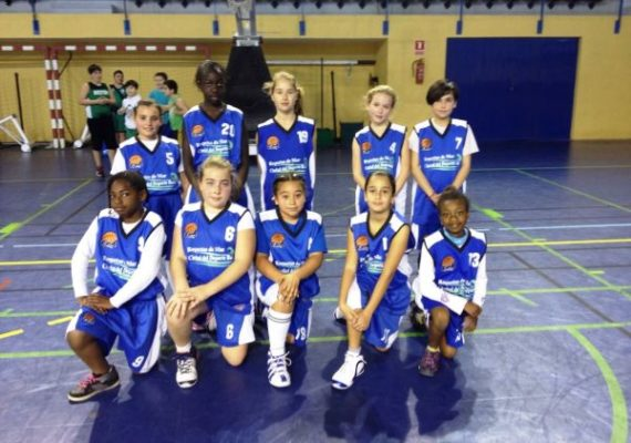Benjamin femenino, Roquetas, baloncesto