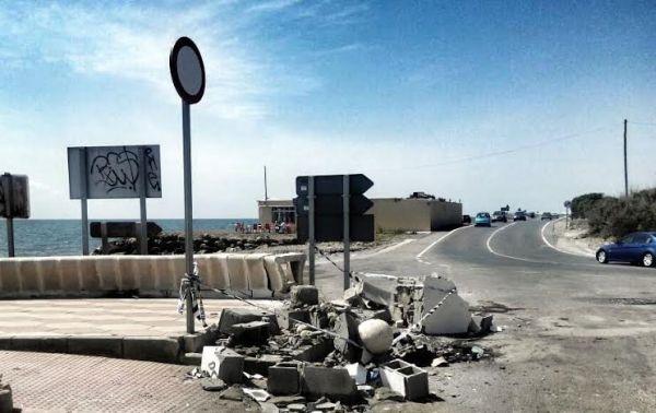Punto negro de la carretera de Costacabana a la altura de la rambla