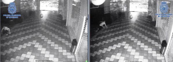 Imagen del ladrón grabada por un circuito interno