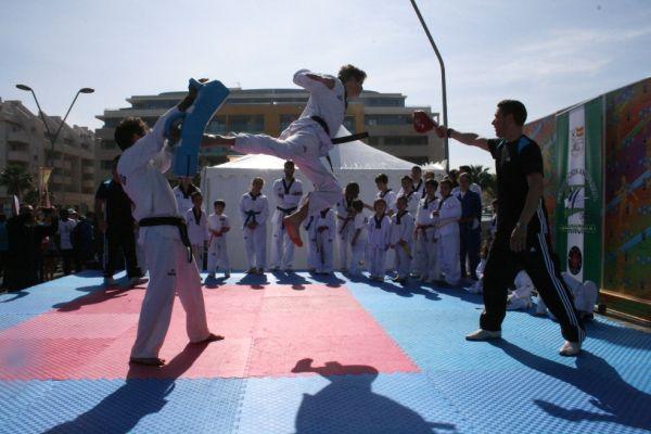 Exhibición de taekwondo, Roquetas