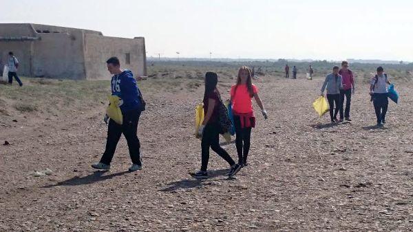 Limpieza playas El Alquián