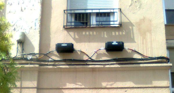 cableado fachada