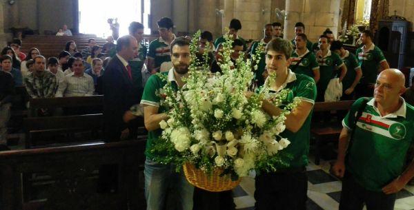 Unicaja Almería, ofrenda floral