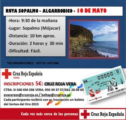 cartel ruta cruz Roja