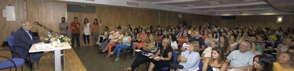 Antonio Marina en el curso de la UAL celebrado en Purchena