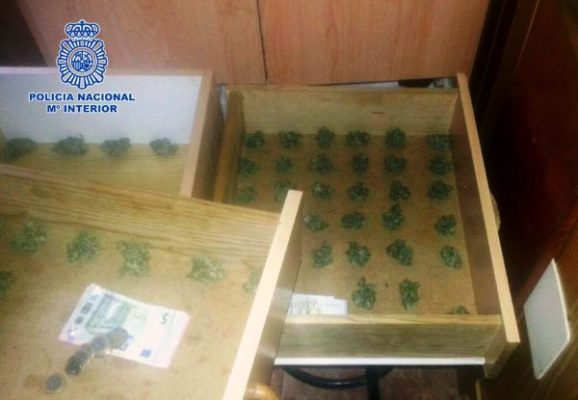 Marihuana intervenida, Policia Nacional