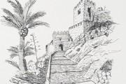Alcazaba de Almería a bolígrafo. Miguel Ángel Castillo