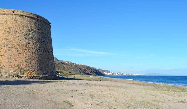 Playa Castillo de Macenas Mojácar