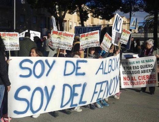 Manifestación colegio Fenoy de Albox