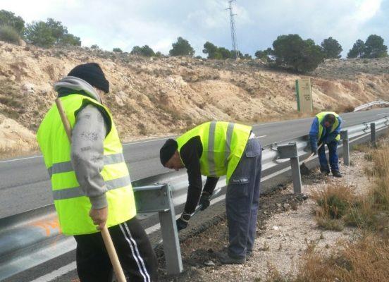 obras en carretera