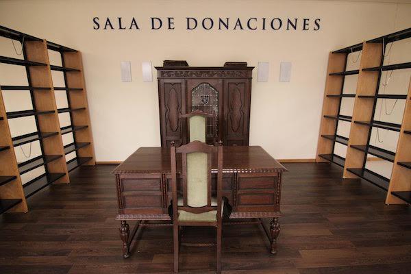 sala de donaciones bibliográficas