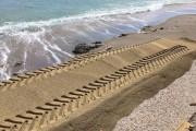 Aberrante recarga de arena de la playa de Mojácar
