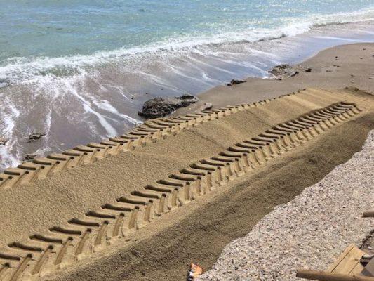 playa mojácar regeneración