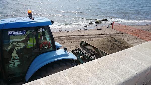 regeneración playa