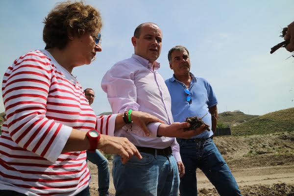 El delegado de Medio Ambiente, Antonio Martínez visita la zona de obras