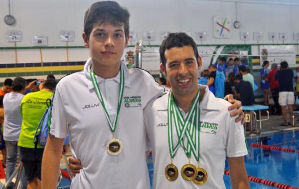 Tejada y Plaza, medallistas en el andaluz de natación adaptada