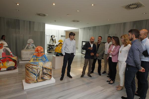 Las nueve esculturas que componen la muestra ya se pueden visitar en el Museo de Almería