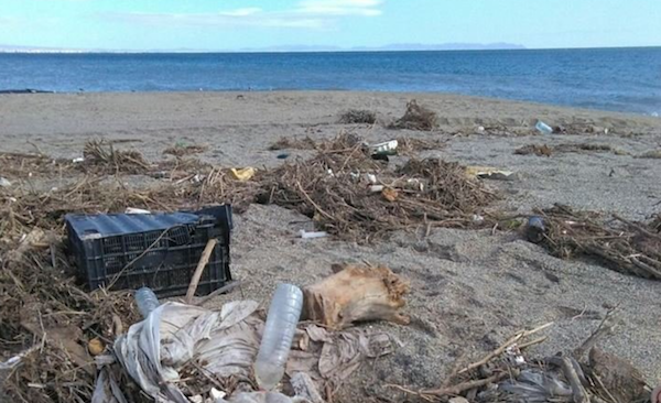 basura en playa