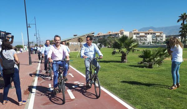 carril bici El Ejido Almerimar