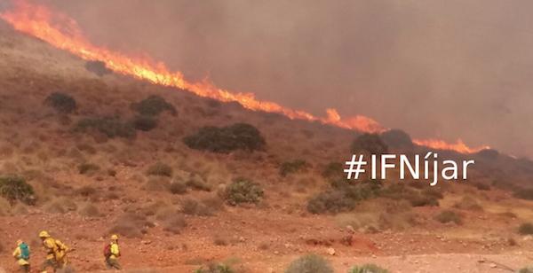 incendio Níjar