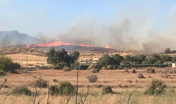 incendio forestal Níjar