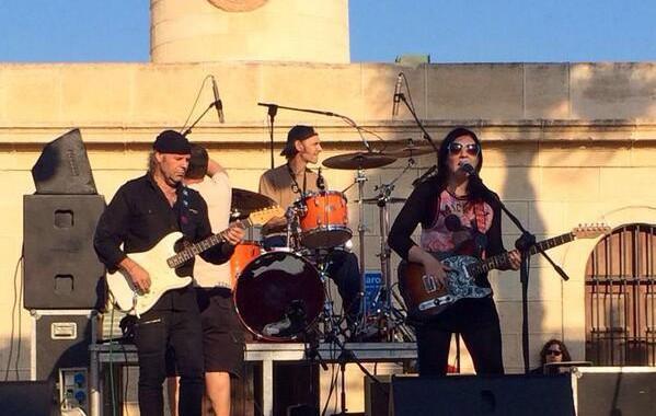 Austin Slack, L84, Gilly Jaxson y Guitarras callejeras, en el Festival Almeriblues de Roquetas