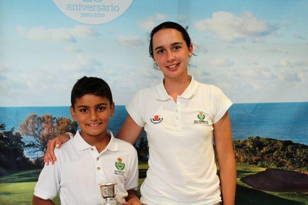 Arián Rodríguez y Marta López, golf