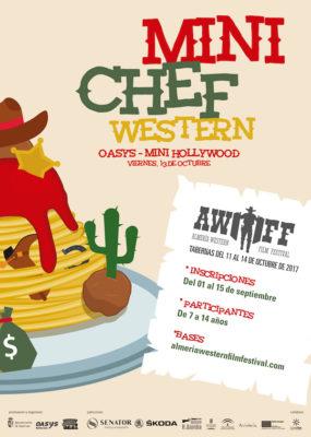 Cartel del I Concurso Mini Chef Western
