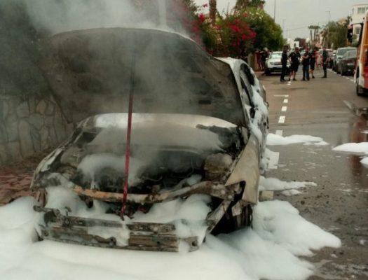 Incendio coche Vera