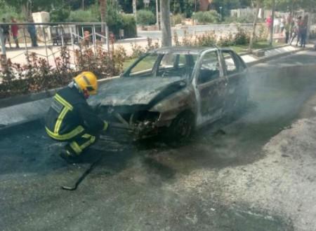 Incendio vehículo, Macael 2