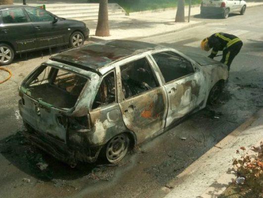 Incendio vehículo, Macael