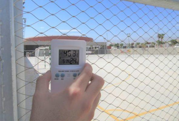 Temperatura, parque Los Bajos, Roquetas