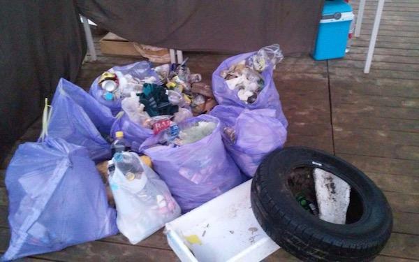 algunos residuos recogidos