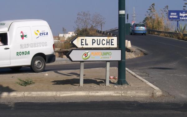 Acceso a El Puche