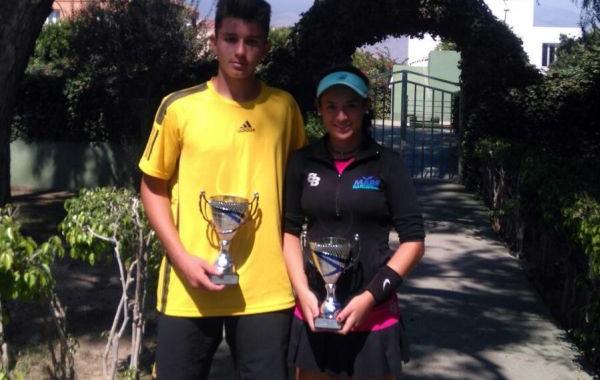 Silvia Vargas y Sergio Capel, campeones provinciales absolutos de tenis