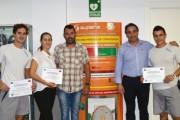 Reconocen a tres empleados del Pabellón Rafael Florido por salvar la vida a una persona