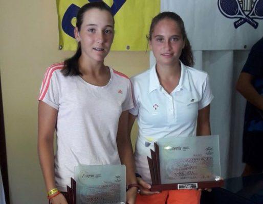 Encarni Garcia Avila y Maria Dolores Lopez. Tenis