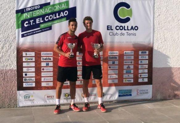 Javi Barranco ganador con Raul Brancaccio en Ribarroja del Turia. Tenis