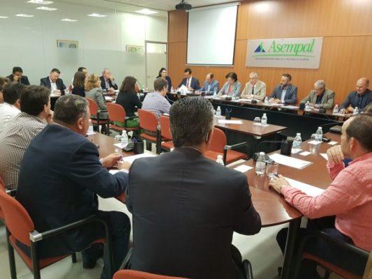 ASEMPAL Junta Directiva presentación presupuestos junta andalucia
