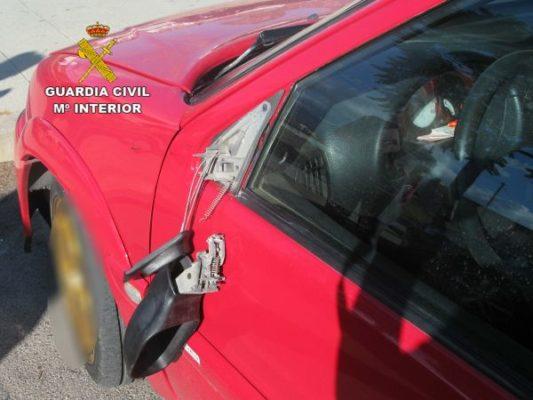 Foto Guardia Civil - espejo roto