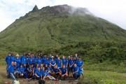 Estudiantes de Vélez-Rubio visitan el volcán La Soufrière en Guadalupe