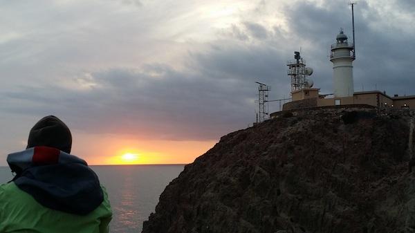 Puesta de sol en el Levante almeriense