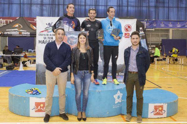 Pódium categoría masculina Ultra maratón
