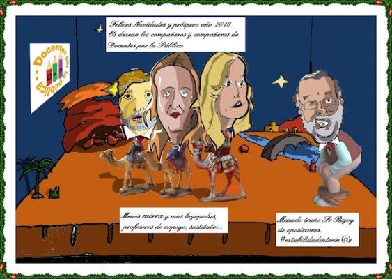 Docentes por la Pública desea Felices Fiestas