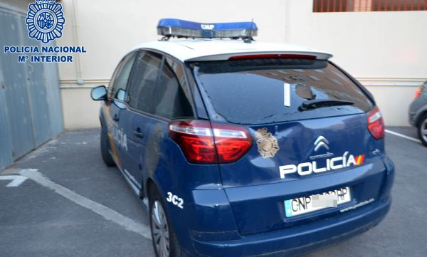 coche policía dañado