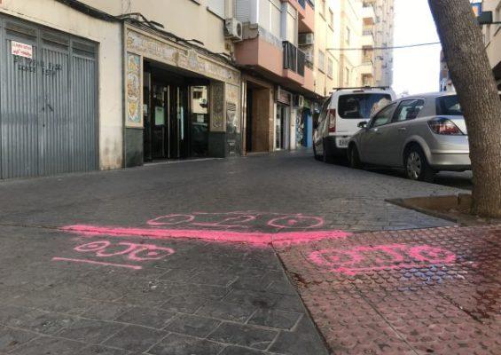 Calle Lopán. Barrio Los Ángeles. Almería